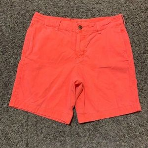 Hollister Button Fly Bright Pink Chino Shorts Rare